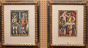 Pair Georges Rouault (FRENCH, 1871-1958) Lithographs: