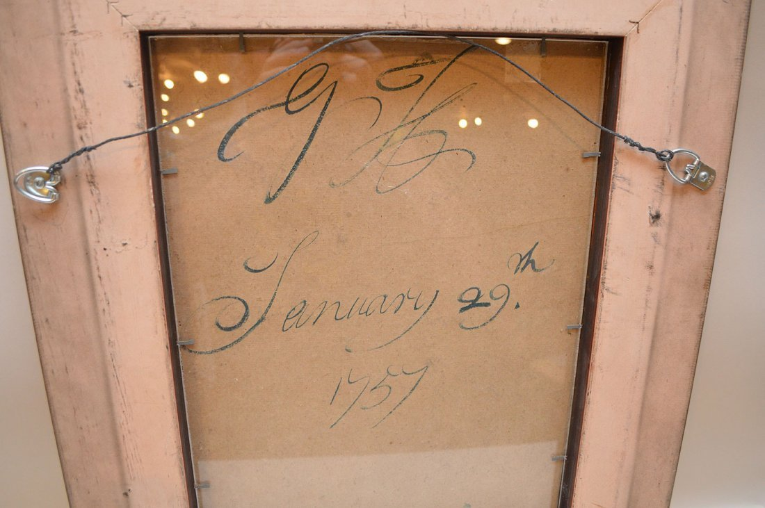"""Old master gouache, signed w/ initials """"G.H."""" and dated - 4"""