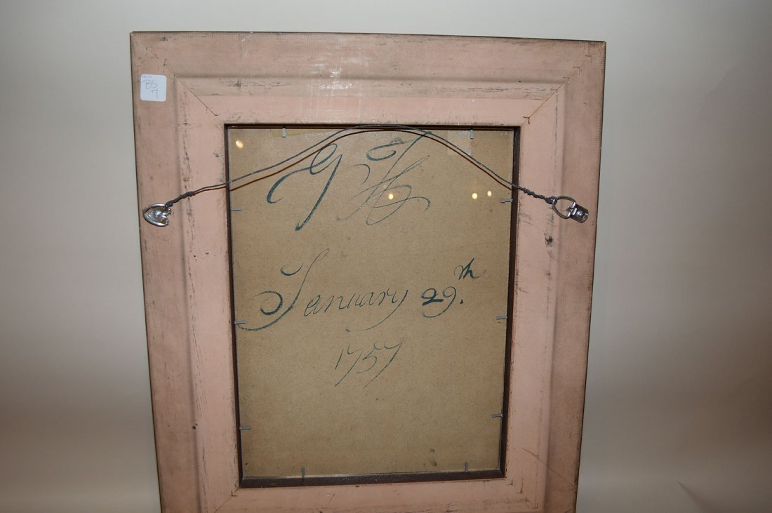 """Old master gouache, signed w/ initials """"G.H."""" and dated - 5"""