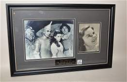 """Signed Photo Judy Garland """"The Wizard Of Oz"""" Forever"""