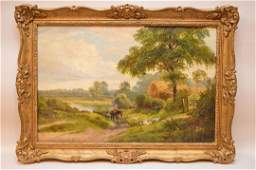 19th Century English School oil on canvas, Signed