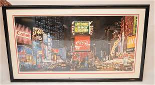 Ken Keeley (American b.1934-) Serigraph, Time Square