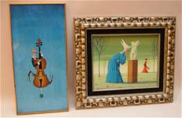 2 Paintings: ONE BY- TAVENARI, Italian, 20th Century,