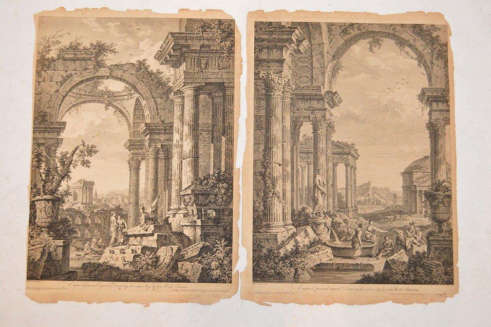 2pcs- Giovanni Paolo Panini (ITALIAN, BORN CIRCA