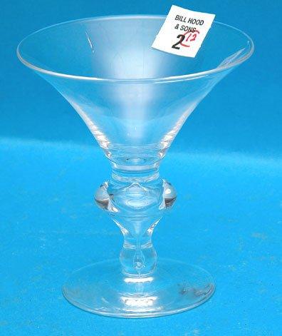 "2: 12 Steuben champagne glasses, 4 3/4"""