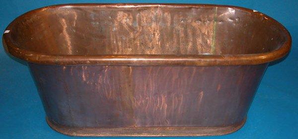 131B: Full size copper bathtub