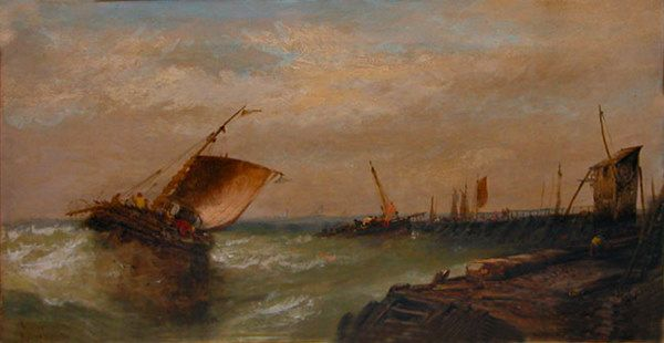 A. Montaegis French 19 th century, oil painting