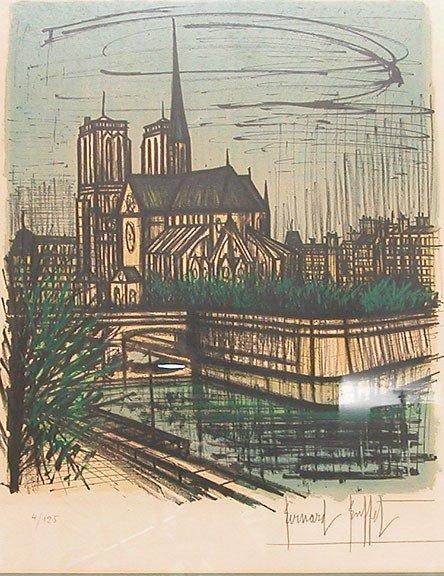 240A: Bernard Buffet, (1928-1999 French) colored lithog