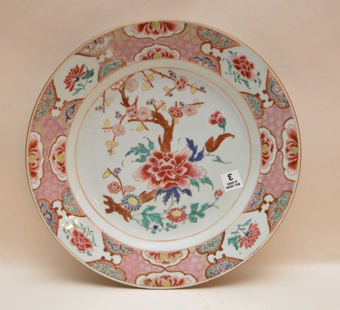 Chinese Export Porcelain Charger.  With some minor