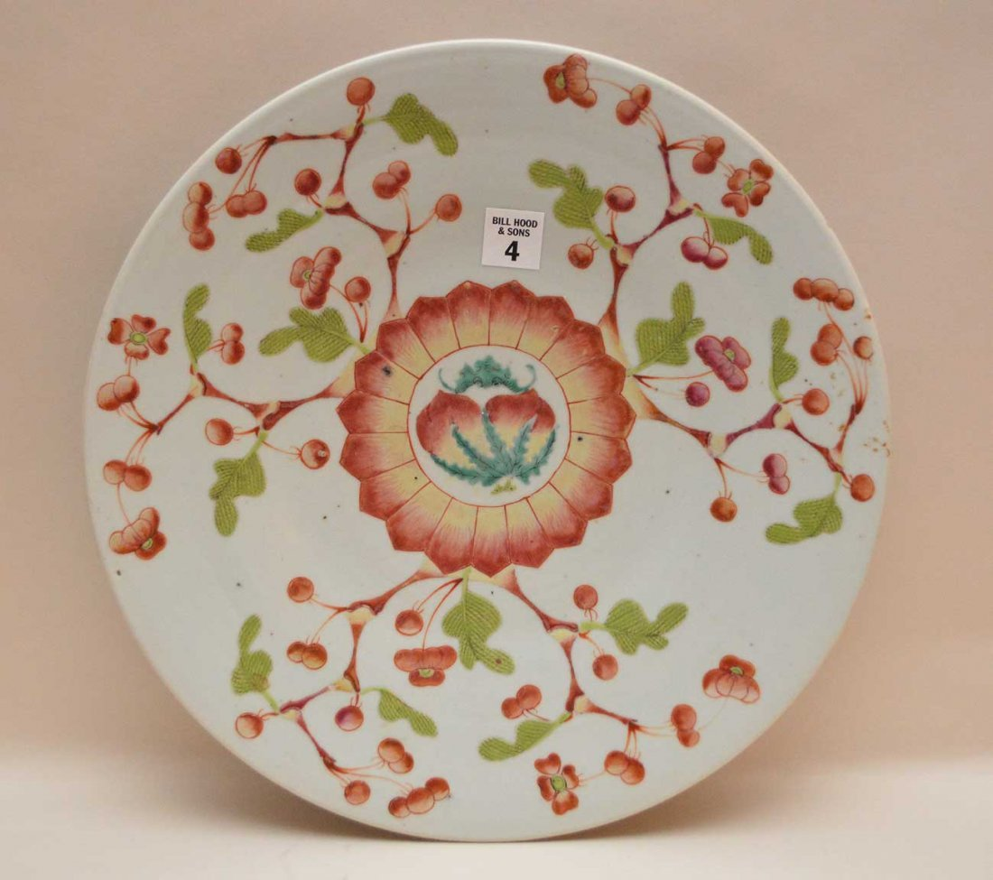 Chinese Export Porcelain Charger with floral