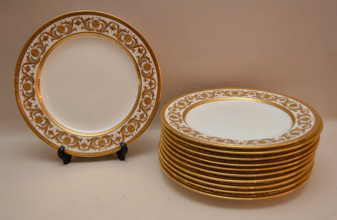 Set 10 Mintons Porcelain Plates made for Tiffany & Co.
