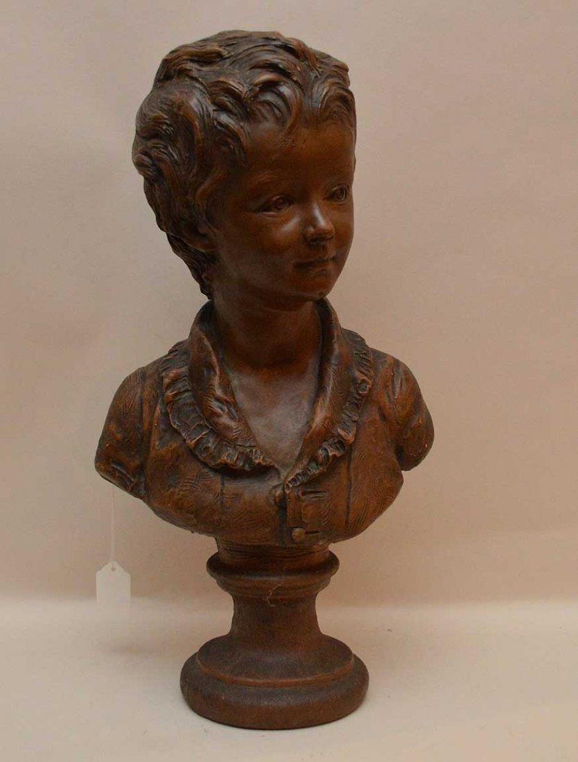 After Jean-Antoine Houdon Bust of little boy_x000D_