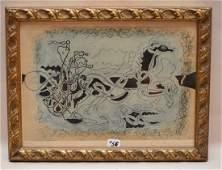"""Braque Georges, (1882-1963 France). """" Le Char Bleu """"."""