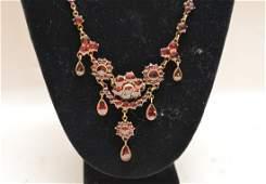 Victorian garnet necklace