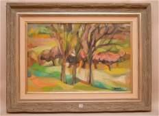 Yolanda Fusco (New York 1920 - 2009) oil on canvas,