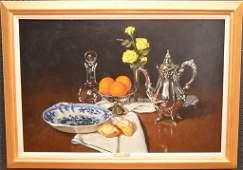 Gregory Hull (American born 1950) oil on canvas, Still
