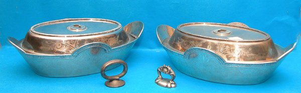 1009: 19th Cent American George Sharp sterling dishes