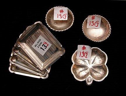 1013: Lot of 7 sterling mini pieces., incl: 4 rectangul