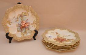Doulton Burslem, 6 Plates, Assorted Hand Painted Floral
