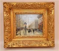Paul Renard (French 1941-1997) Paris Street scene, oil