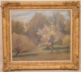 Philip Malicoat (american, 1908-1981) Oil On Canvas,