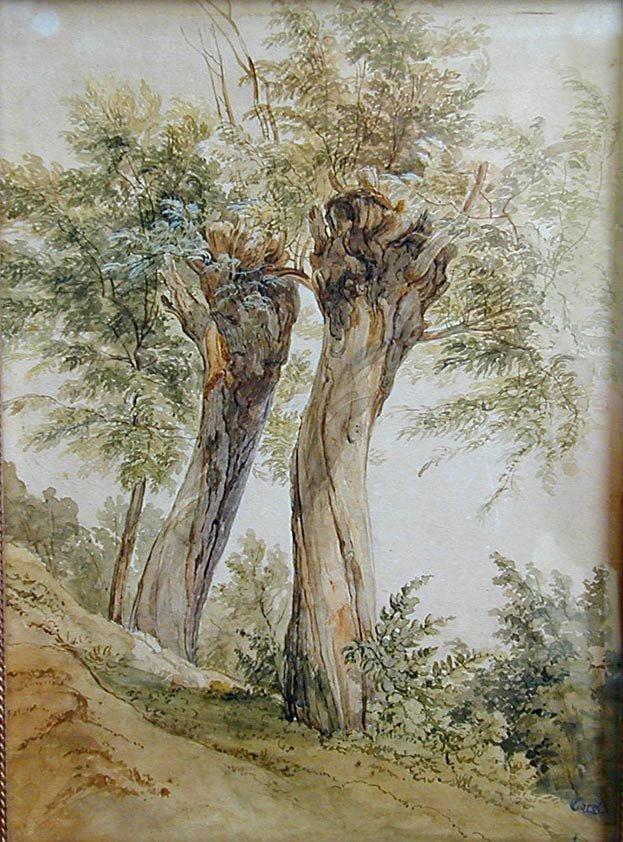 Jean Baptiste Corot (French 1796-1875) W/C Watercolor