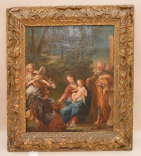 18th Century Old Master Style Religious Scene, Oil On