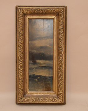 Russian Small Seascape Attributed Ivan Konstantinovich