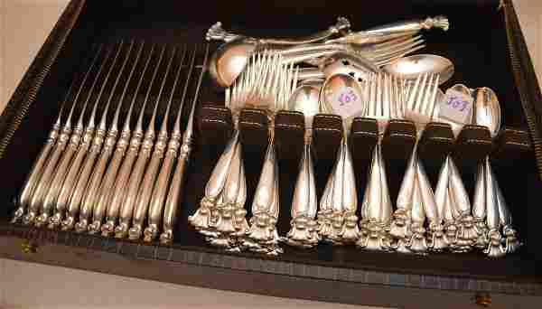 """Wallace sterling silver flatware set of """"Romance of the"""