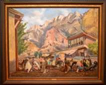 Seref Akdik TURKISH 18991972 oil on canvas Keman