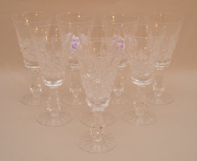 """8 Waterford Crystal Sherries, 5""""h"""