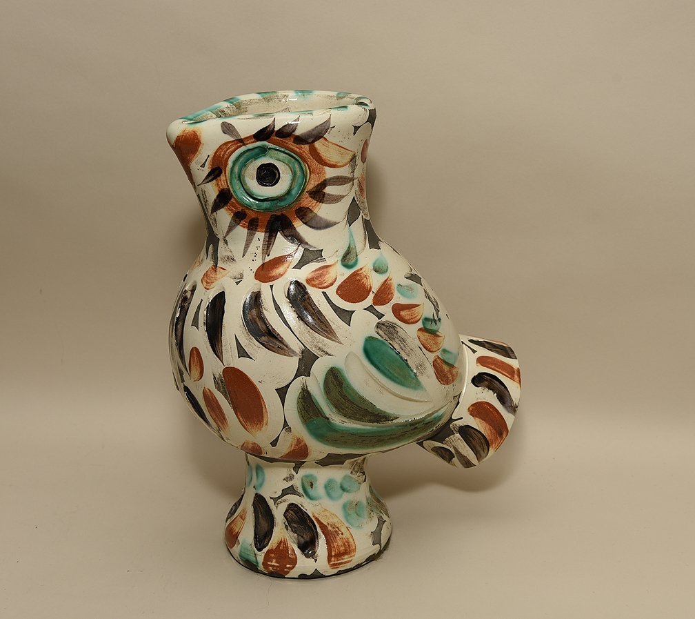 """Pablo Picasso Madoura Pottery Pitcher """"Wood Owl""""  1969"""