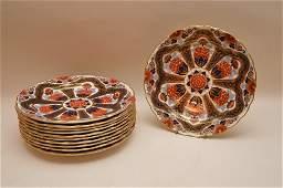 Set 10 Royal Worcester Imari Porcelain Plates made for