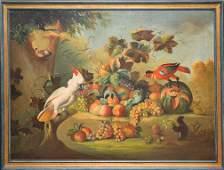 20th Century Italian School oil on canvas, large still