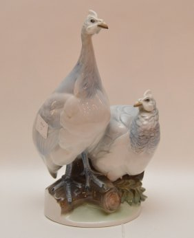 Rosenthal Porcelain Group Depicting A Grouse. Ht. 11