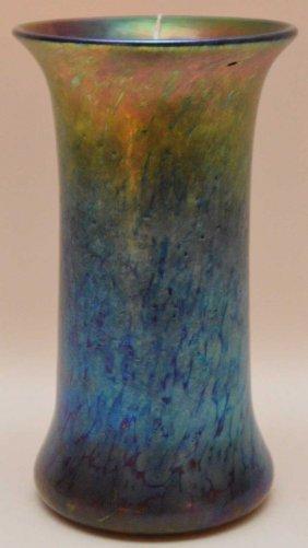 Blue Art Glass Vase Signed L. C. Tiffany Favrile Ht. 7