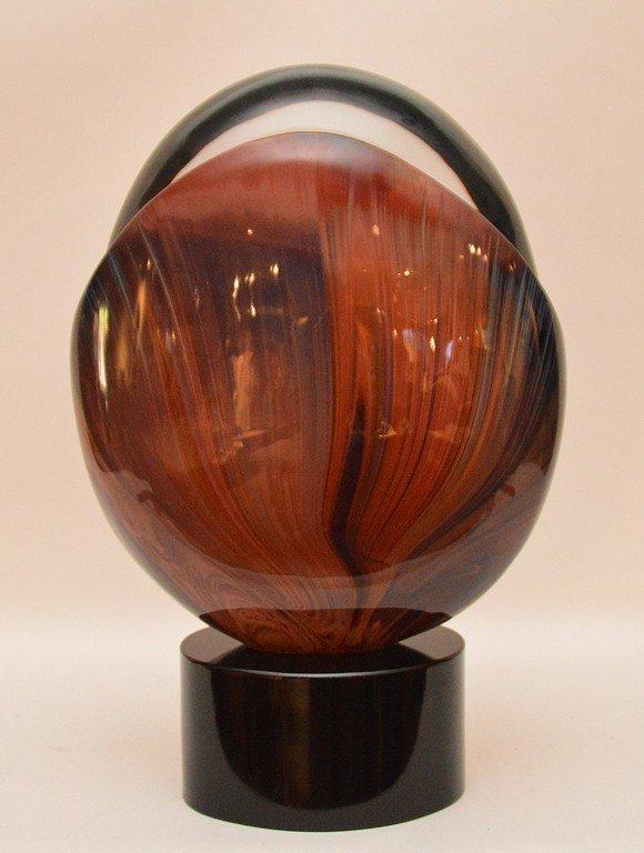 """Dino Rosin Murano Glass Sculpture """"The Birth""""  Ht. 17"""""""