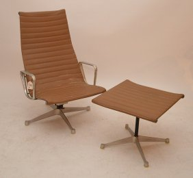 Eames For Herman Miller Aluminum Group Lounge Chair &
