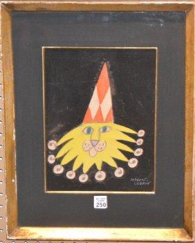 Herbert Leupin (swiss, 1916-1999) Watercolor/gouache ,