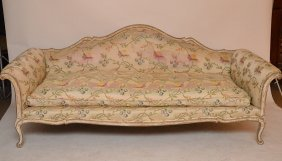 Vintage Venetian Rococo Style Carved & Upholstered