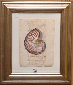 18th Century Italian Hand Decorated Manuscript, Red