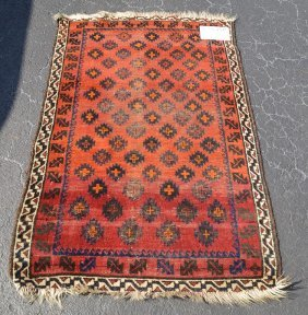 Carpet, Brown, Cream Border (single Row) And Red Field