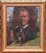 1199: Conrad Hommel (1883-1971 German) oil on canvas, p