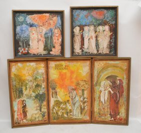 Gertrude Barrer (american 1921-1997) Collection Of 5