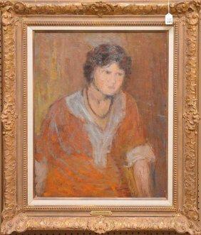J. Alden Weir American Impressionist Portrait