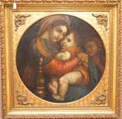 (19th c) ITALIAN SCHOOL AFTER RAPHAEL, oil on canvas,