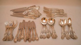 "Sterling Flatware Set, 48pcs. Reed & Barton, """"francis"
