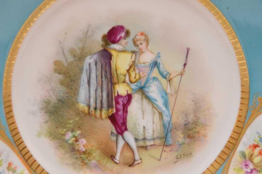 Pair Antique Sevres Portrait Plates.  Each Artist - 2