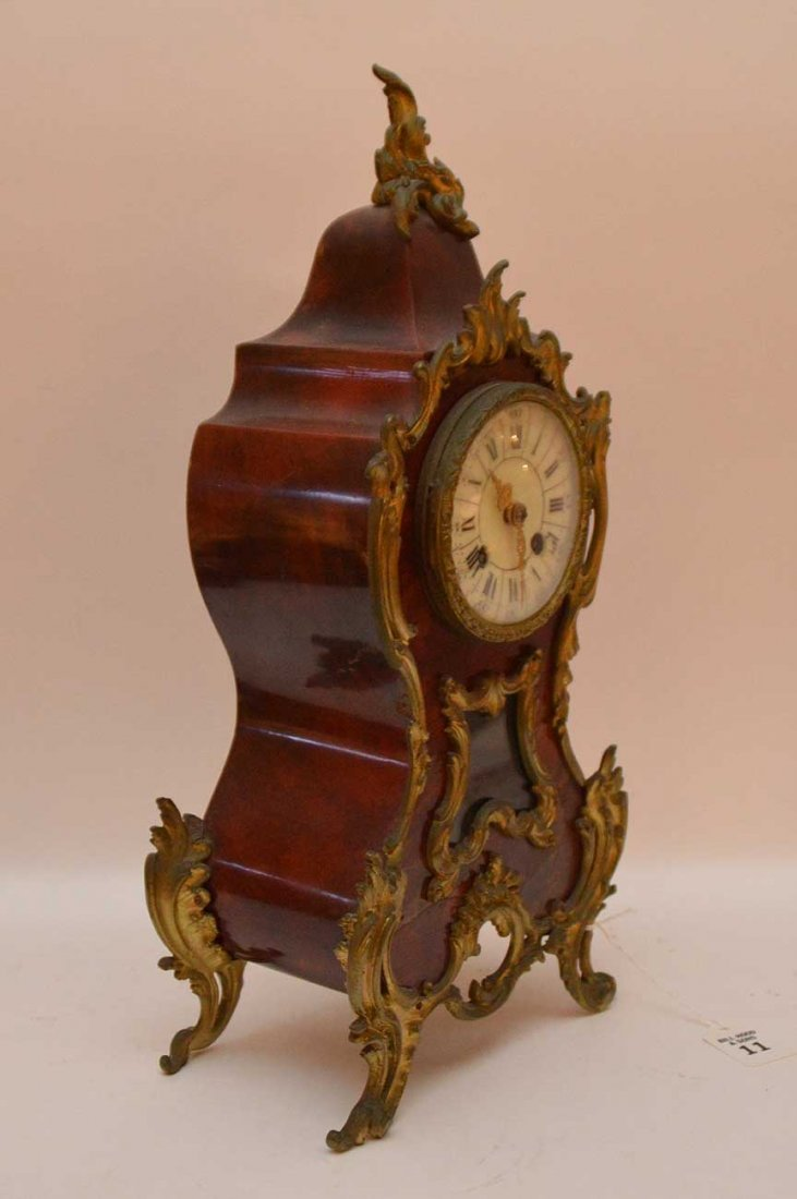Antique Bronze Mounted Clock with time and strike - 4