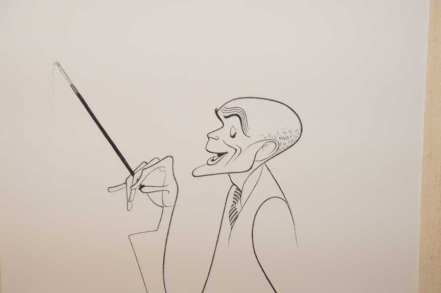 An original Al Hirschfeld caricature (American 1903 - - 2